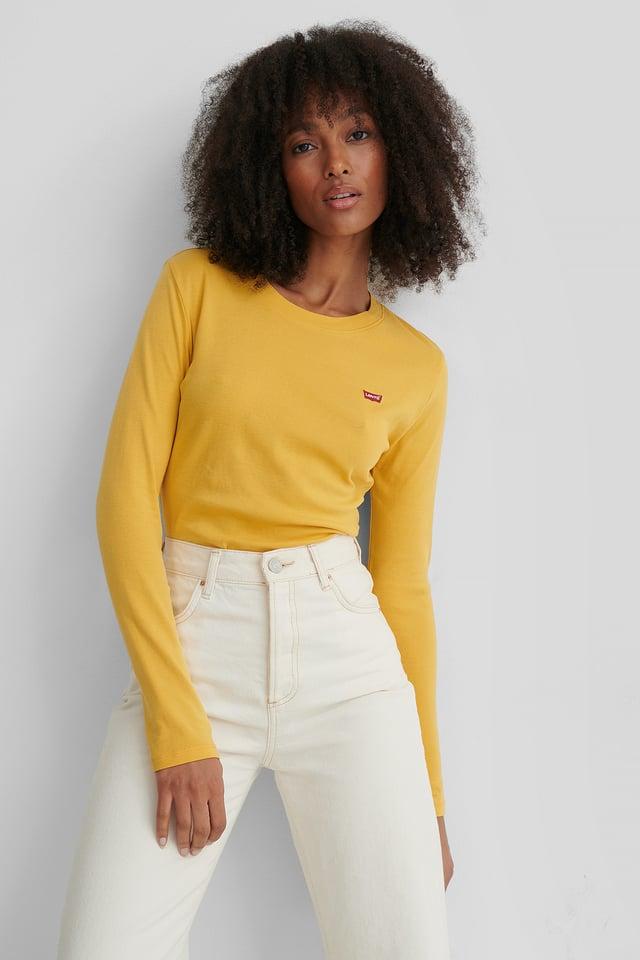 LS Baby Tee Gold Coast Yellow