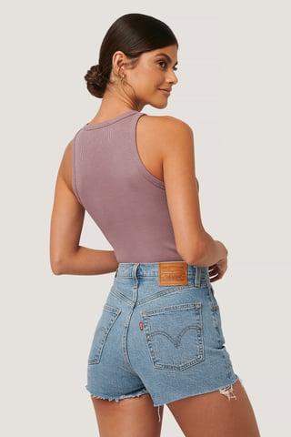 Tang Stonewash Ribcage Shorts