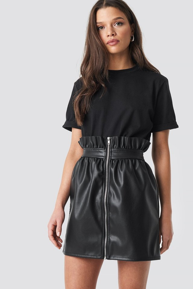 PU Leather Skirt Linn Ahlborg x NA-KD