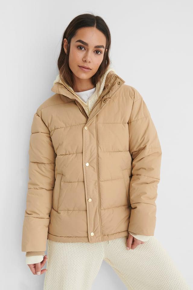 Beige Padded Jacket
