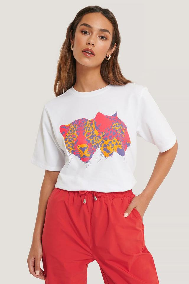 Oversize T-Shirt Med Tryck White