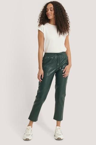 Dark Green Apple Trousers