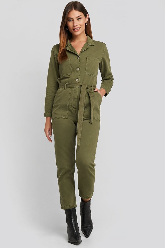 Army One-Piece Suit Khaki