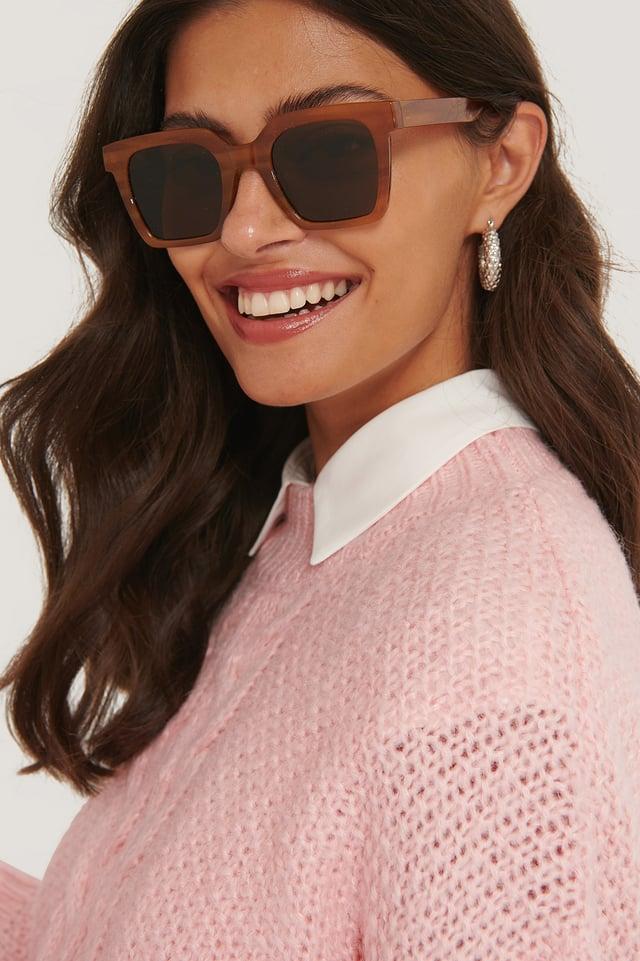 Tobacco Brown Blanca Sunglasses