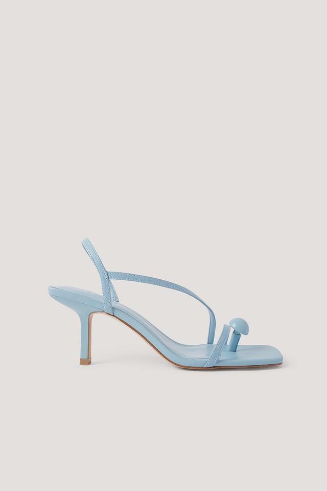 Sky Blue Boton Sandals