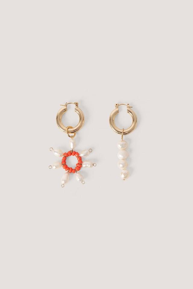 Bruna Earrings White Pearl