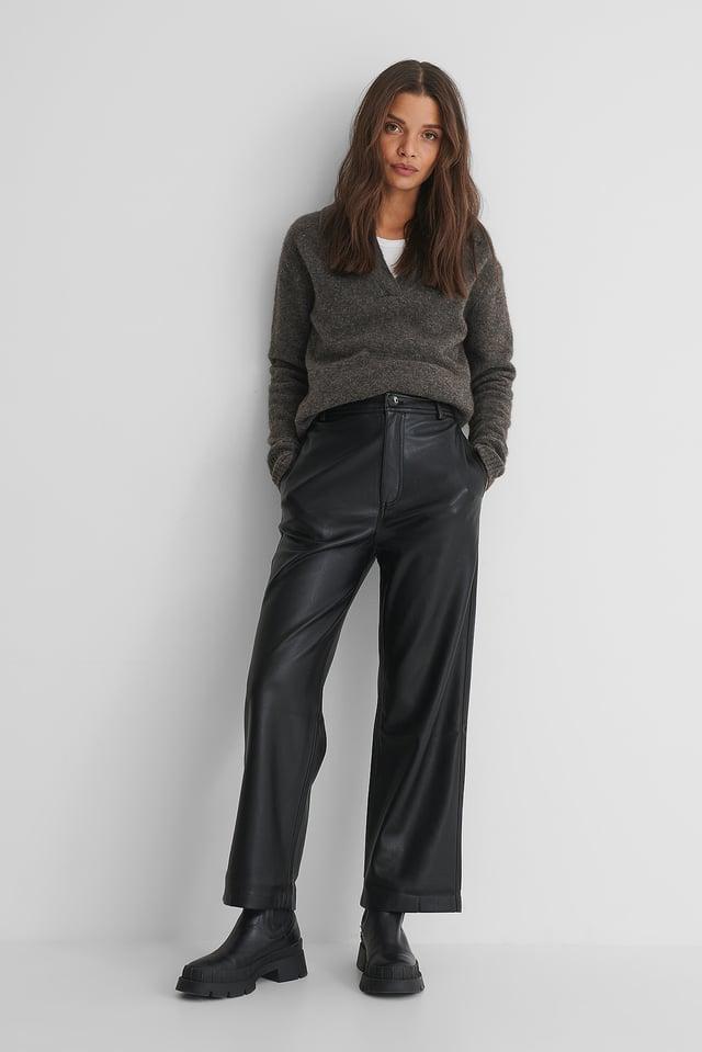 Black Camilla Trousers