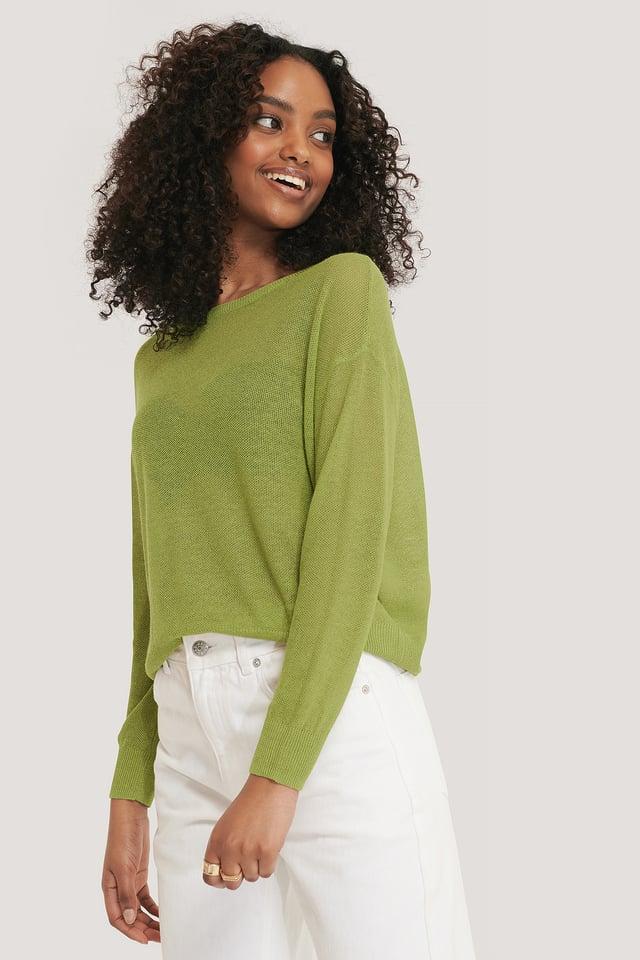 Bright Green Pullover