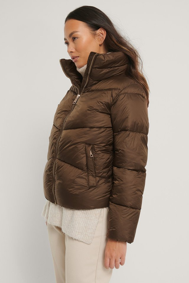 Reciclada Anorak Acolchado Brown