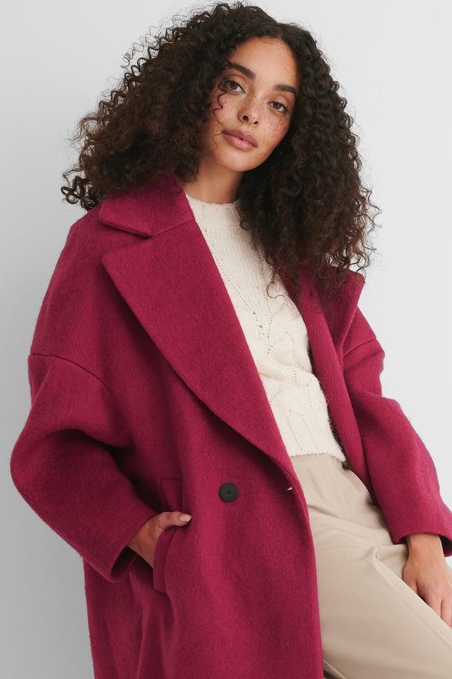 Fuchsia Dwurzędowy Płaszcz