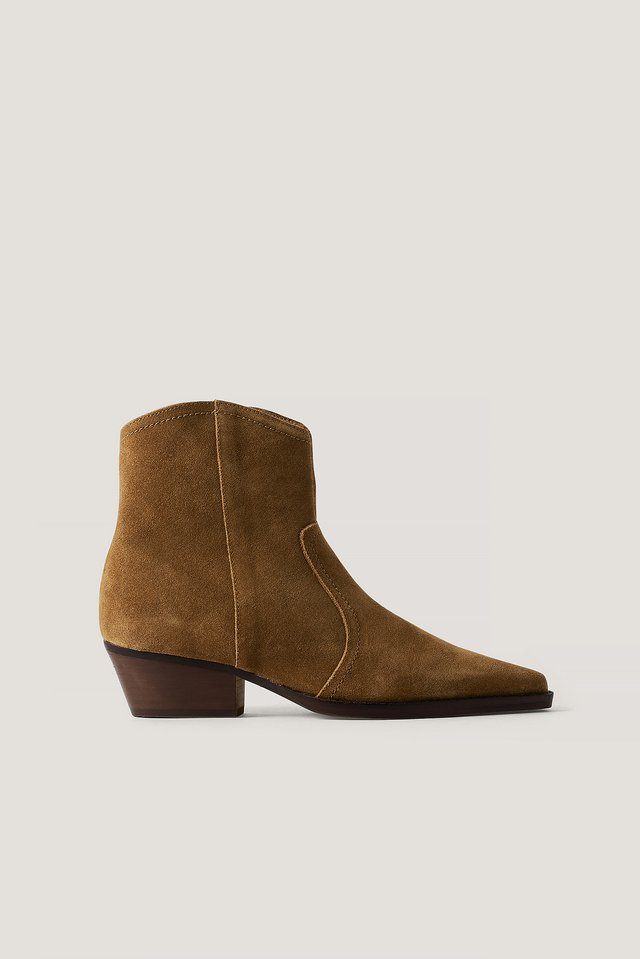Cruce Ankle Boots Tobacco Brown