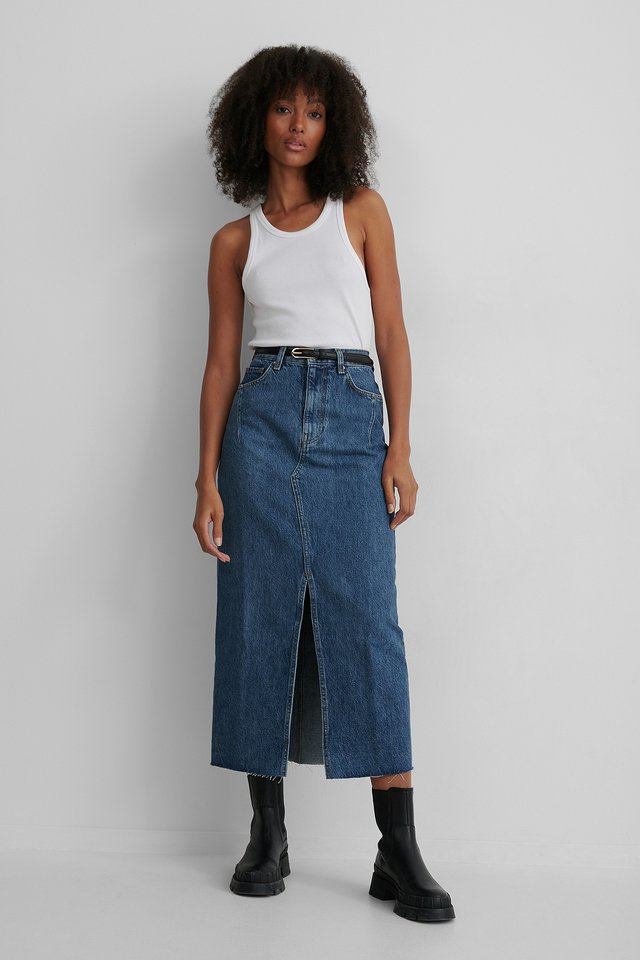 Blue Denim 70 Skirt