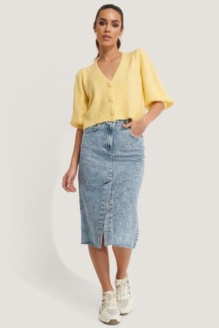 Denim Edited Skirt