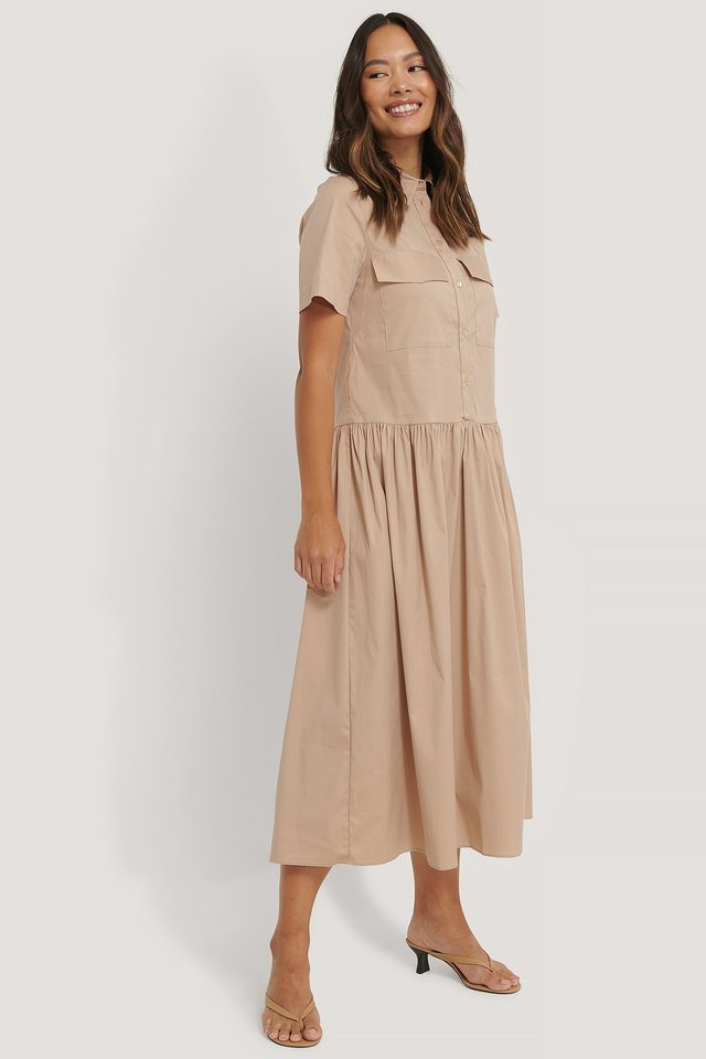 Beige Elna Dress