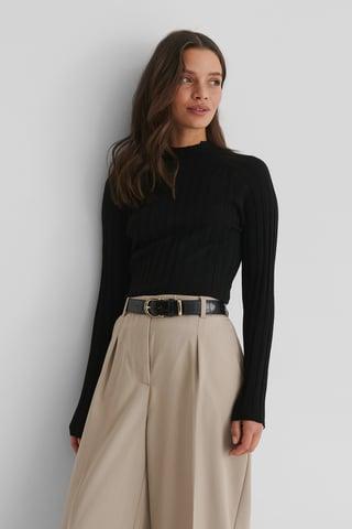Black Flurry Sweater