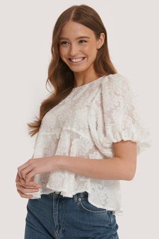 White Detaljeret Bluse