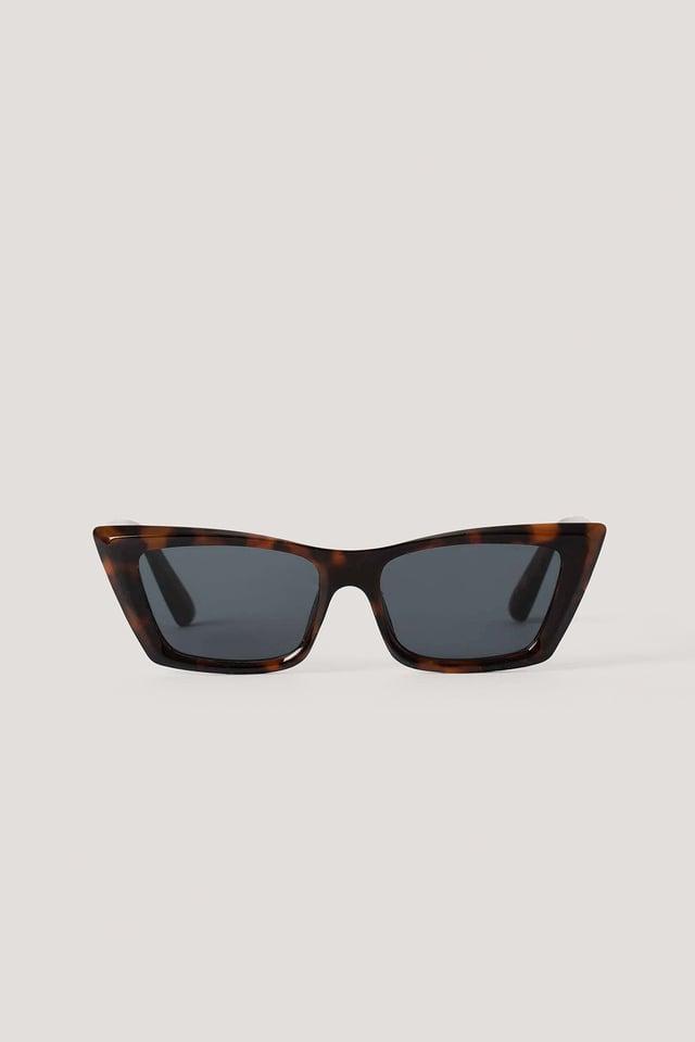 Okulary Przeciwsłoneczne W Kształcie Kociego Oka Dark Brown