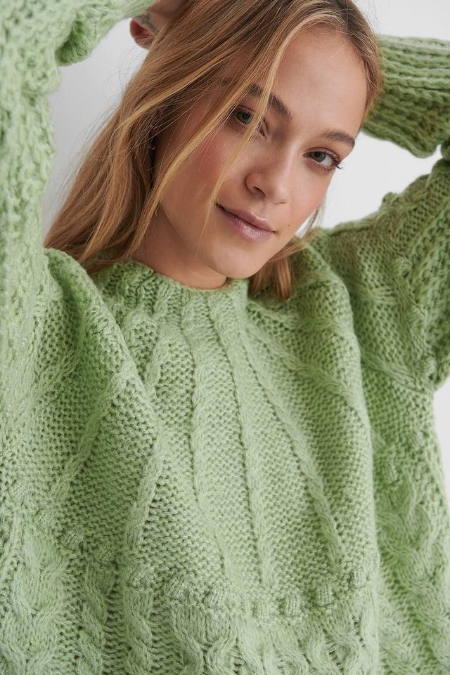Pastel Green Handia Sweater