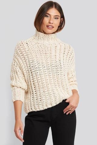 Light Beige Handmade Sweater