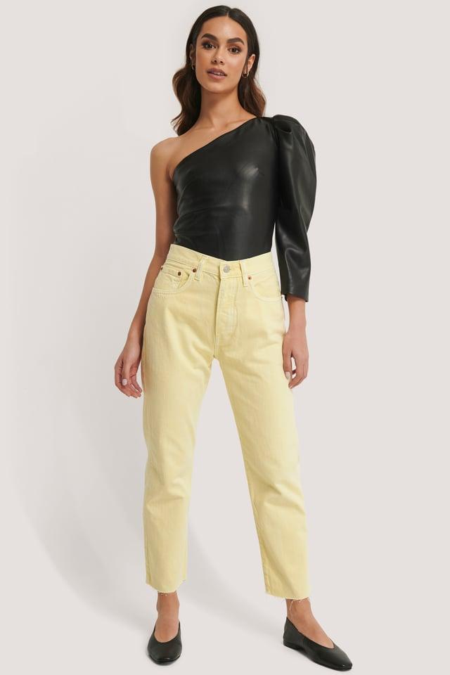 Havana Jeans Pastel Yellow