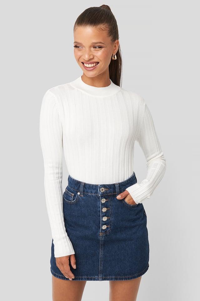 Julia Skirt Open Blue