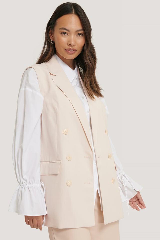 Malvi Waistcoat Blazer Vest Grey Stone