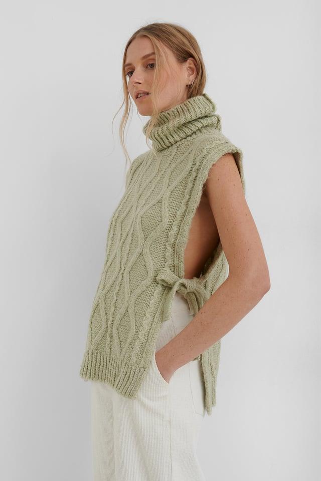 Manati Sweater Waistcoat Pastel Green
