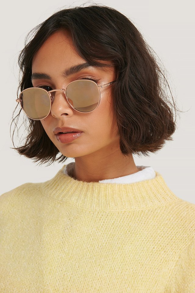 Gold Manhattan Sunglasses