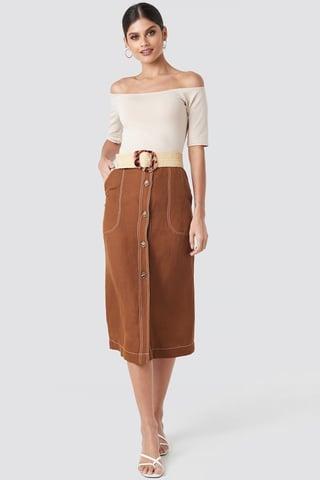 Brown Meg Skirt