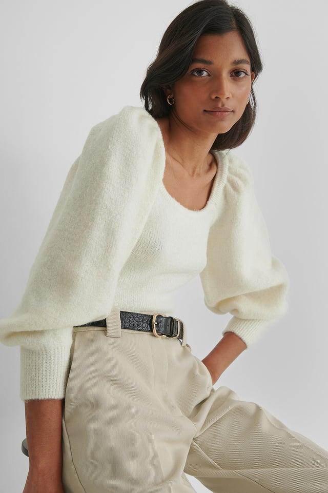 Miau Sweater Light Beige