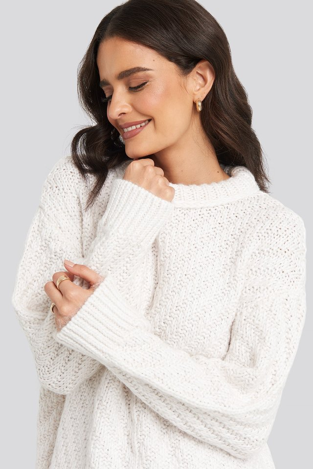 Mirror Sweater Light Beige