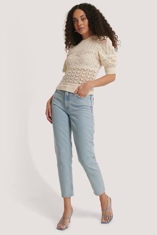Light Denim Mom-Jeans