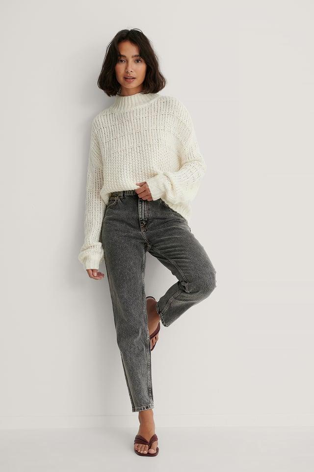 Mom 80 Jeans Grey