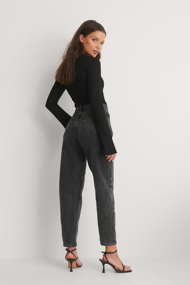 Black Mom-Jeans