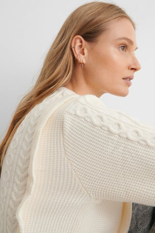 Light Beige Overall Sweater