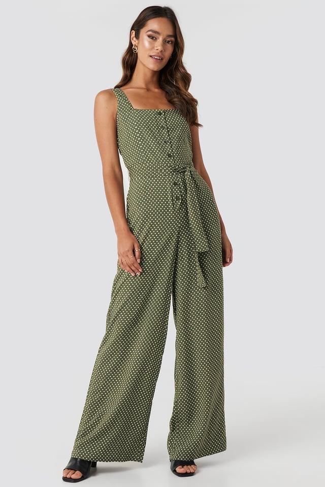 Palm One-Piece Suit Khaki