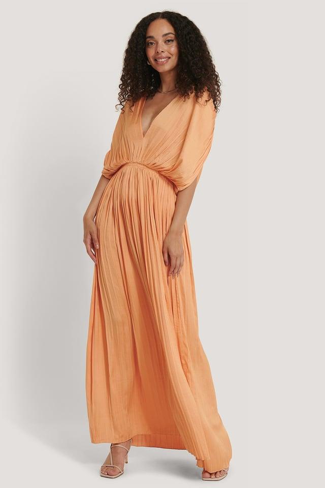 Plisi Dress Pastel Orange
