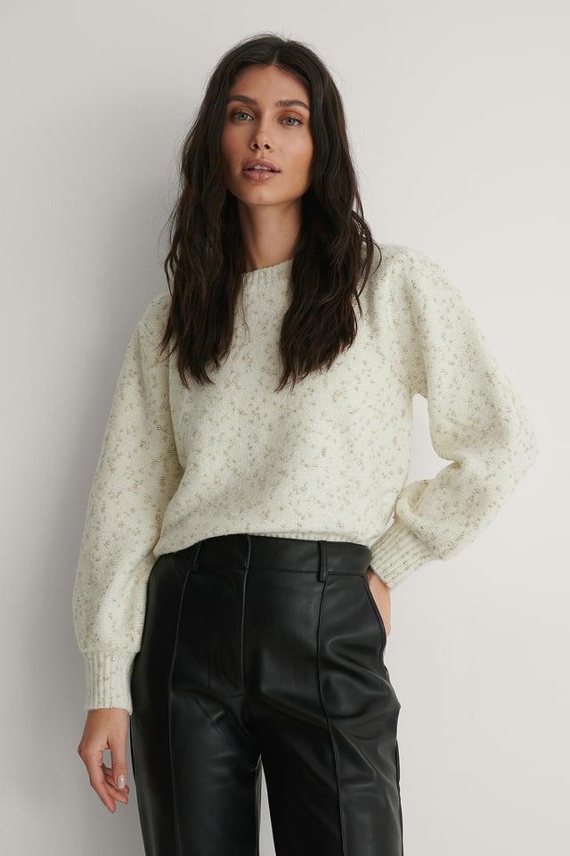 Light Beige Quilate Sweater