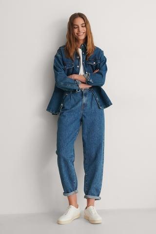 Black Jeans Med Lös Passform