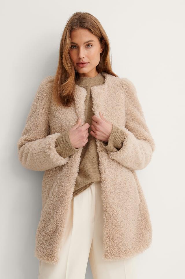 Beige Rihanna Coat