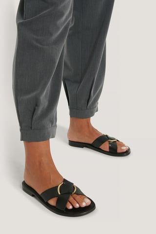 Black Saki Sandals
