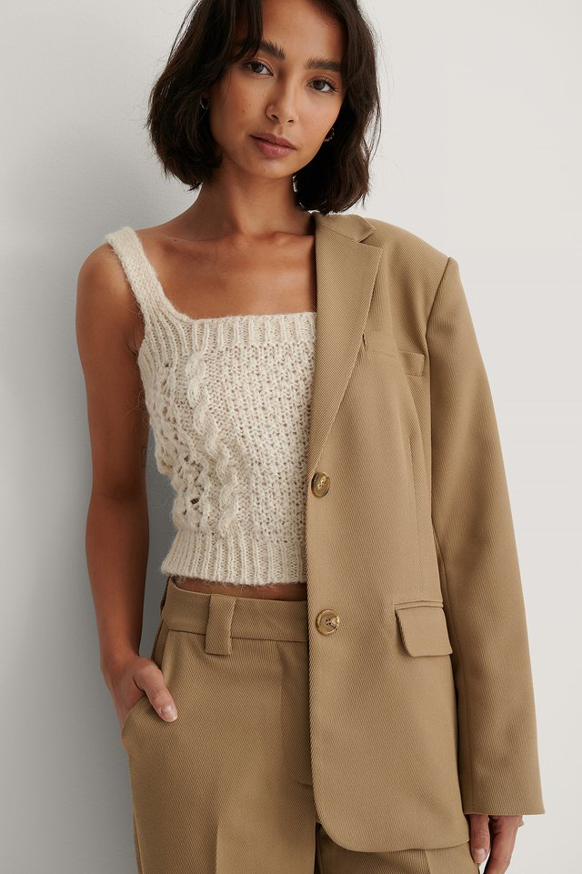 Selena Top Light Beige