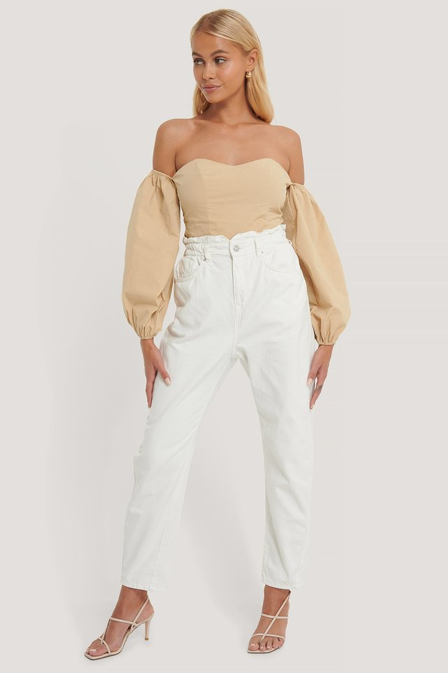 Slouchy Jeans White