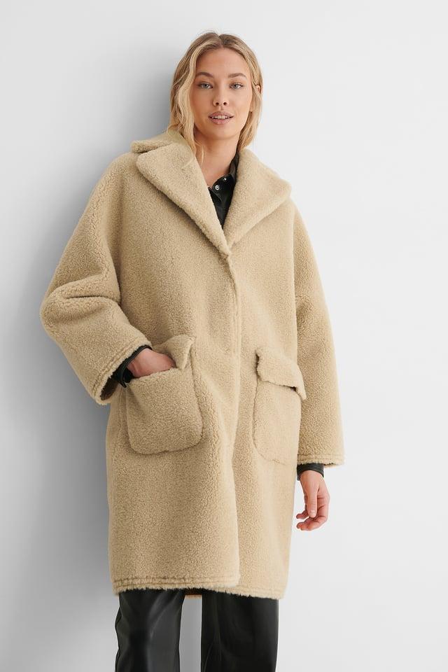 Beige Płaszcz