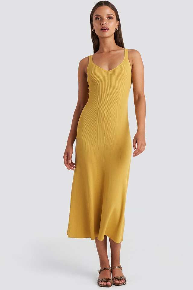 Suau Dress Mustard Yellow