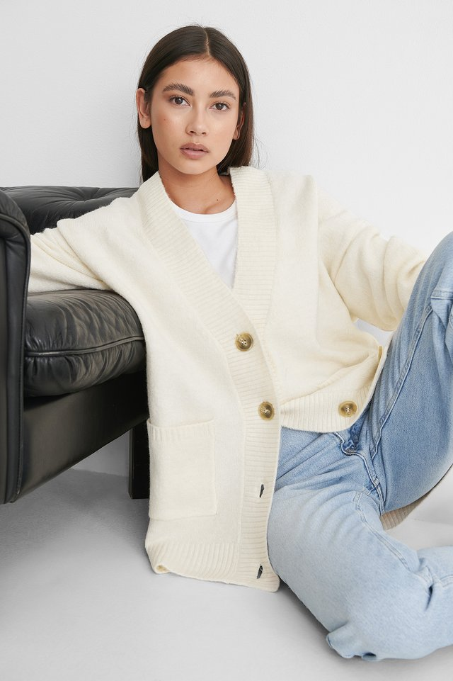 Light Beige Taldora Cardigan