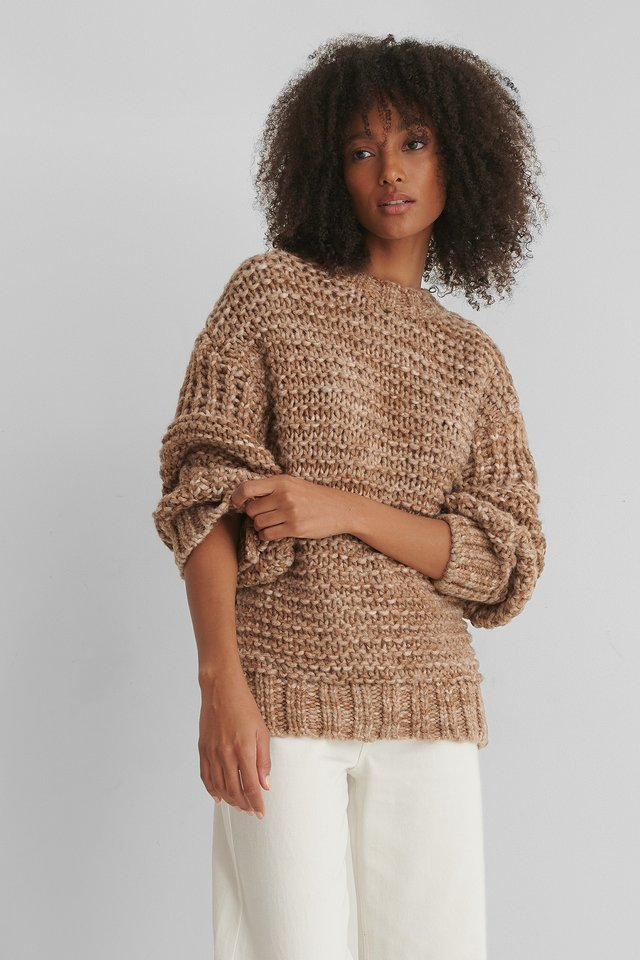 Teddy Sweater Camel