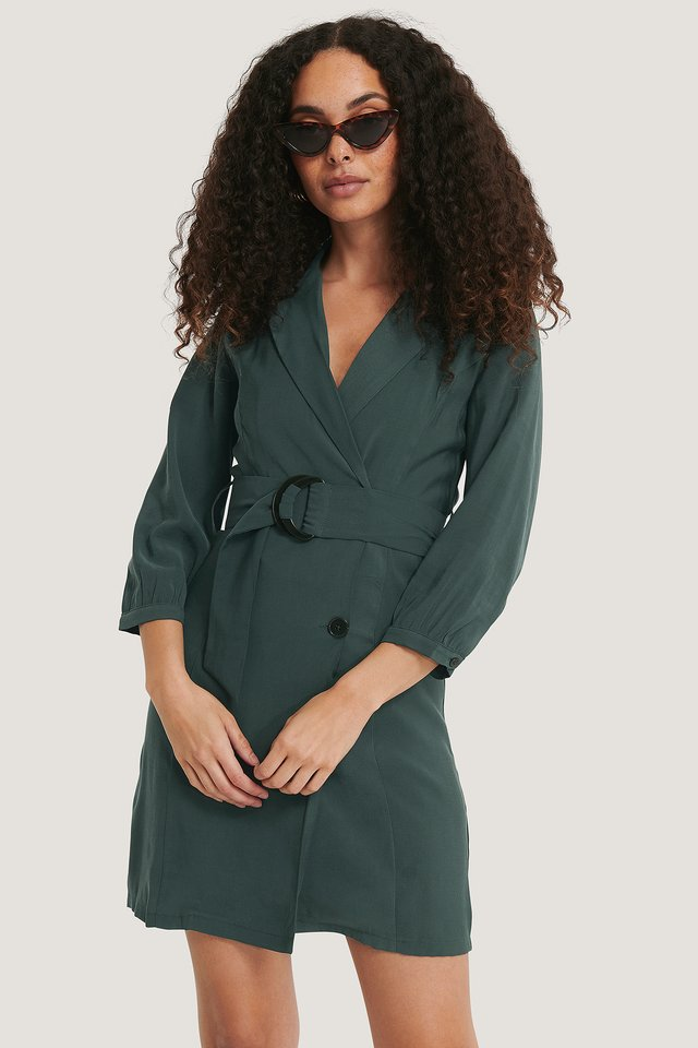 Tuxedo Dress Green