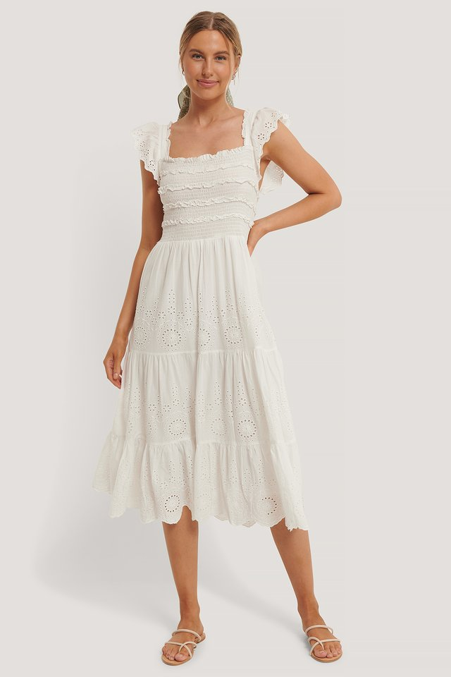 Viqui Dress Offwhite
