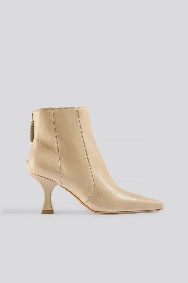Waves Ankle Boots Light Brown